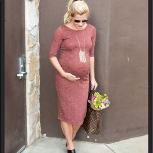 Pinkblush Dresses - Pink Blush maternity Midi Dress